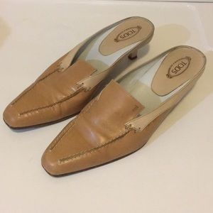 Two-toned leather loafers
